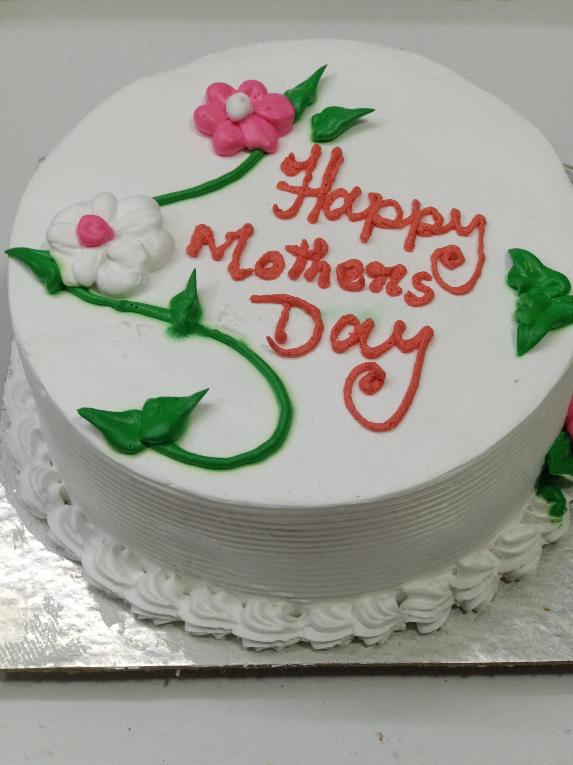 Mothers Day Cake Vanilla, Asansol Cake Delivery Shop, Mothers Day Cake Vanilla